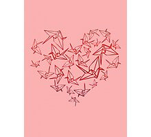 Origami In Love Photographic Print