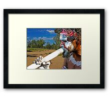 Play Your Didgeridoo Blue Framed Print