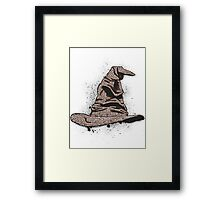 The Sorting Dictionary Hat Framed Print