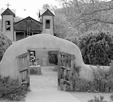 The Mission Church, Santuario de Chimayo, Chimayo, New Mexico by Jeff Chavez