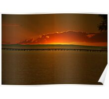 Hervey Bay jetty sunrise Poster