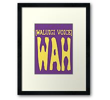 Waluigi Voice Shirt Framed Print