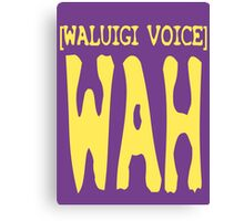 Waluigi Voice Shirt Canvas Print