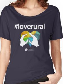 #loverural for dark backgrounds Women's Relaxed Fit T-Shirt