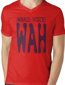 Wario Voice Shirt Mens V-Neck T-Shirt