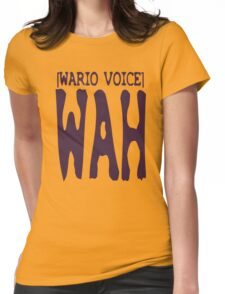 Wario Voice Shirt Womens Fitted T-Shirt