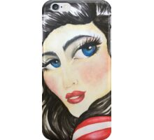 Blue eyed babe,  portrait of a rock chic iPhone Case/Skin