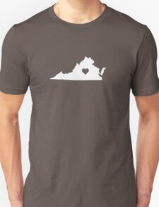 Virginia Heart Unisex T-Shirt