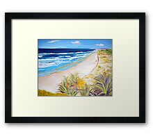 Main Beach Straddie  Framed Print