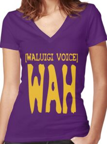 Waluigi Voice Shirt Women's Fitted V-Neck T-Shirt