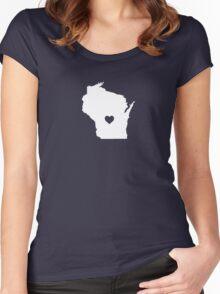 Wisconsin Heart Women's Fitted Scoop T-Shirt
