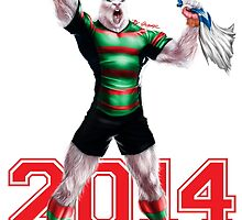 'The Mighty Premiers From South Sydney' 2014 Print By Grange Wallis by Grange Wallis