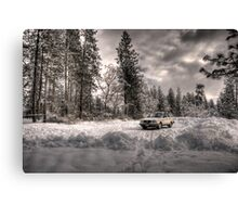 Volvo in the Snowstorm Canvas Print