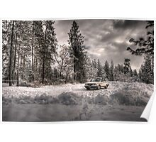 Volvo in the Snowstorm Poster