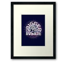 SSE-Bigger on the Inside-Purple Framed Print