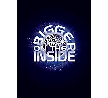 SSE-Bigger on the Inside-Blue Photographic Print