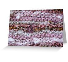Pink Knit Greeting Card