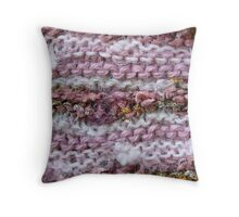 Pink Knit Throw Pillow