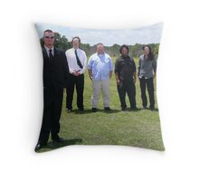 Groom and Friends Throw Pillow