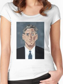 Jon Stewart Women's Fitted Scoop T-Shirt
