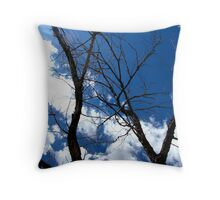 Scary Movie Trees Throw Pillow