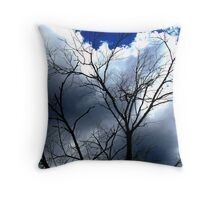 Scary Movie Trees II Throw Pillow