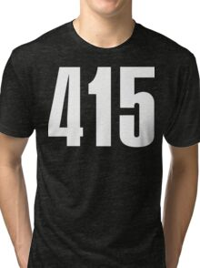 415 San Francisco [White Ink] | Phone Area Code Shirts Stickers Tri-blend T-Shirt