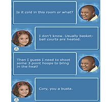Cory in the House nintendo DS Photographic Print