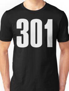 301 Maryland [White Ink] | Phone Area Code Shirts Stickers Unisex T-Shirt
