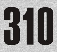 310 Hollywood | Phone Area Code Shirts Stickers by FreshThreadShop