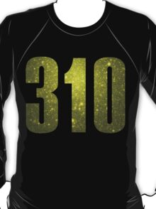 310 Hollywood [Gilded Galaxy] | Phone Area Code Shirts Stickers T-Shirt