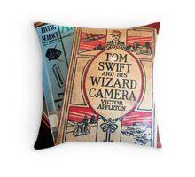 Old Tyme Photo Book Throw Pillow