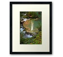 Moony Falls Reflection Framed Print