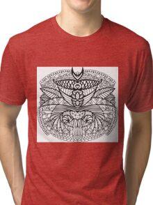 Black White Pattern  Tri-blend T-Shirt