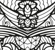 Black White Pattern  Sticker