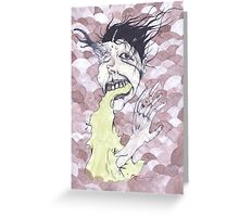 Look at her finger go! Greeting Card