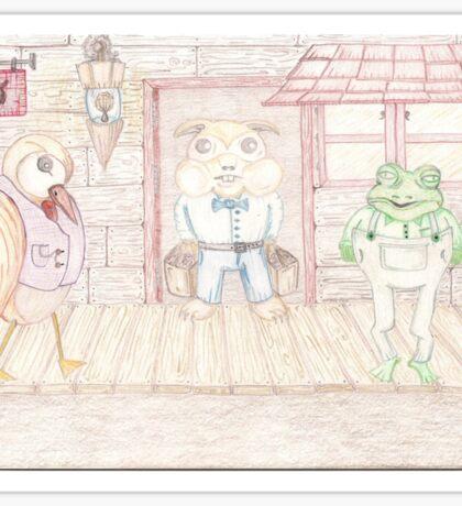 Bird , Hamster , Frog  Sticker