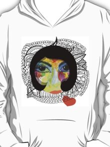 French Girl with Big Eye T-Shirt