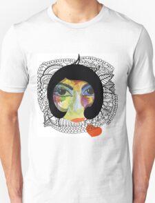 French Girl with Big Eye Unisex T-Shirt
