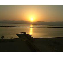 Sunrise Dead Sea Photographic Print