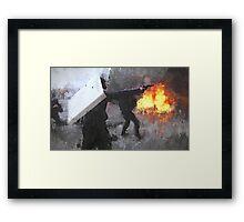 Ukraine Riot Drip Framed Print