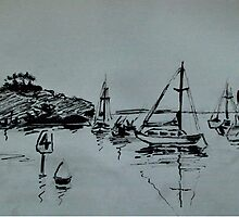 Ketch Sketch by Alison Howson