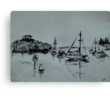 Ketch Sketch Canvas Print