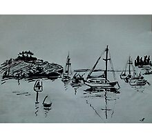 Ketch Sketch Photographic Print