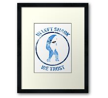 Left Shark - Superbowl 2015 Framed Print