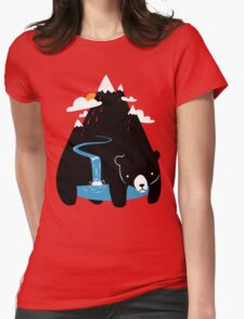 The Mountain Bear Womens Fitted T-Shirt