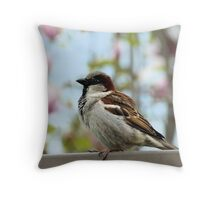 Fat, Full and Content Throw Pillow