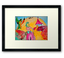 Etno figure Framed Print