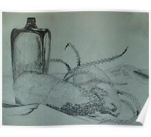 Still Life - Banksia and Bottle Poster