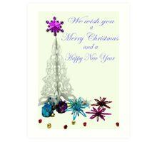 Merry Christmas & Happy New Year Art Print